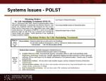 systems issues polst