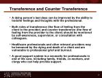 transference and counter transference