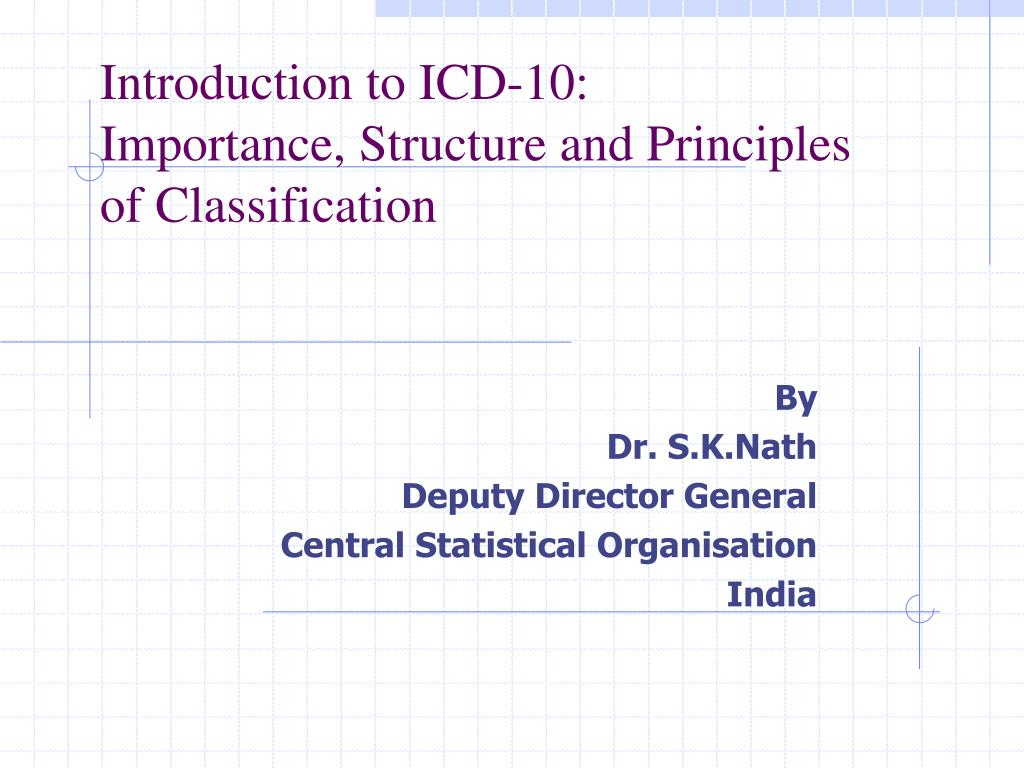 Ppt Introduction To Icd 10 Importance Structure And Principles
