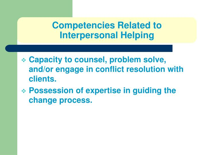Competencies Related to