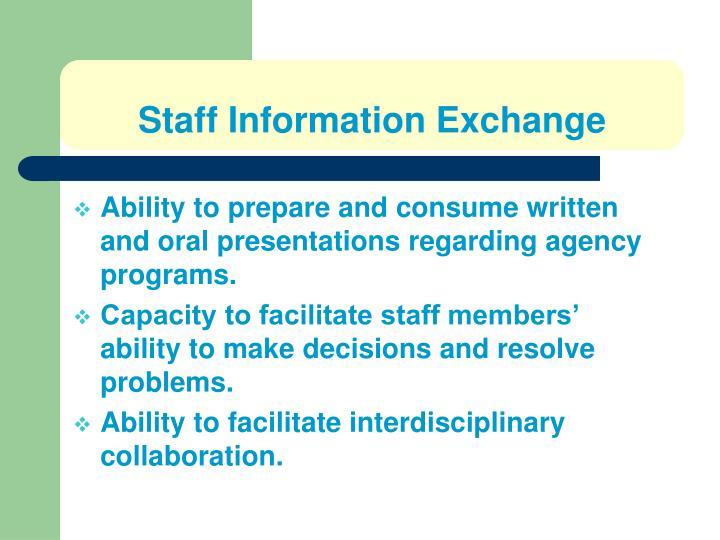Staff Information Exchange