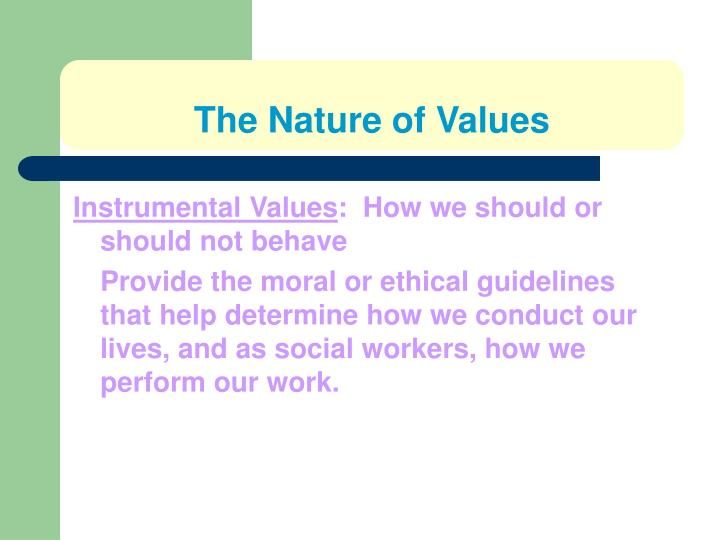 The nature of values1
