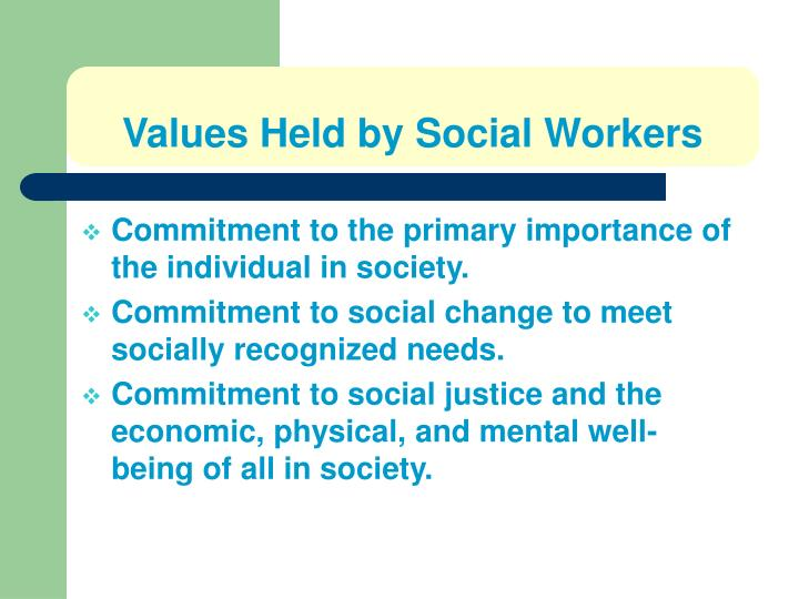 Values Held by Social Workers