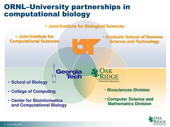 Ornl university partnerships in computational biology1