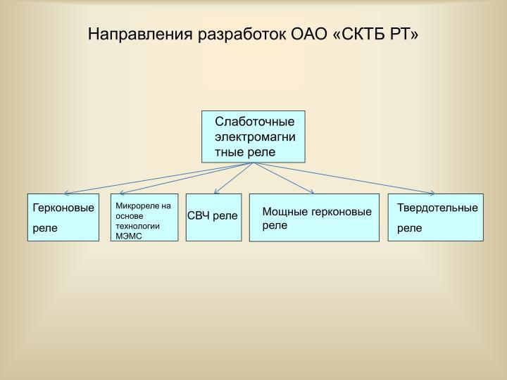Направления разработок ОАО «СКТБ РТ»