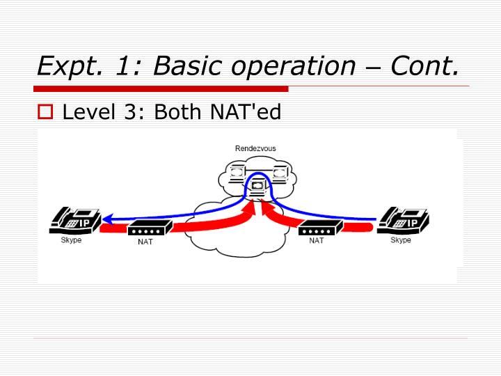 Expt. 1: Basic operation