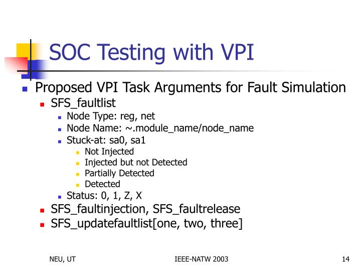 PPT - A VPI-based IP Core Serial Fault Simulation and Test ...