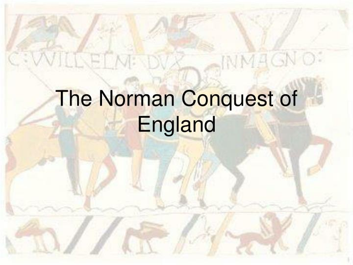 the norman conquest of england n.