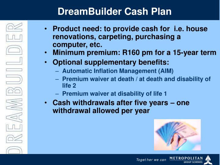 DreamBuilder Cash Plan