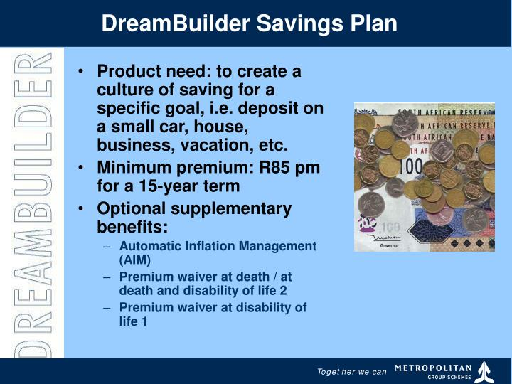 DreamBuilder Savings Plan