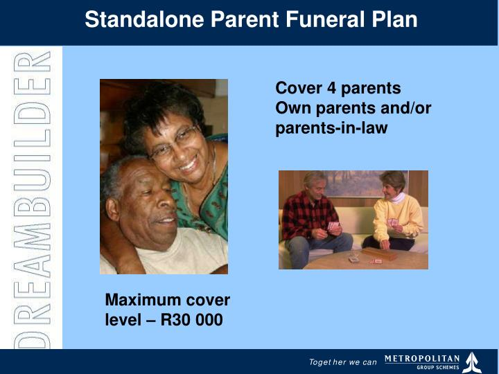 Standalone Parent Funeral Plan