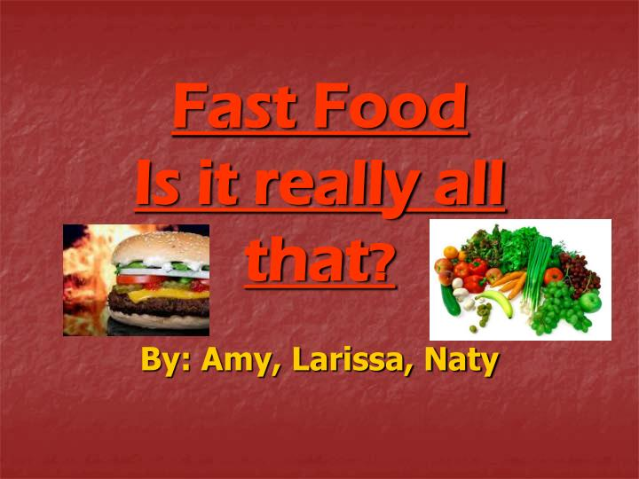 why fast food is unhealthy