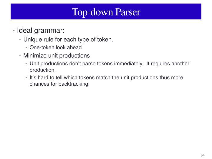Top-down Parser