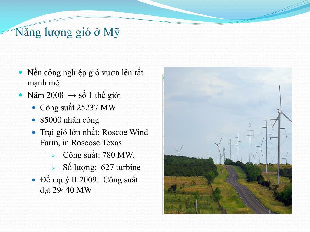 PPT - Năng lượng gió & Ứng dụng PowerPoint Presentation - ID