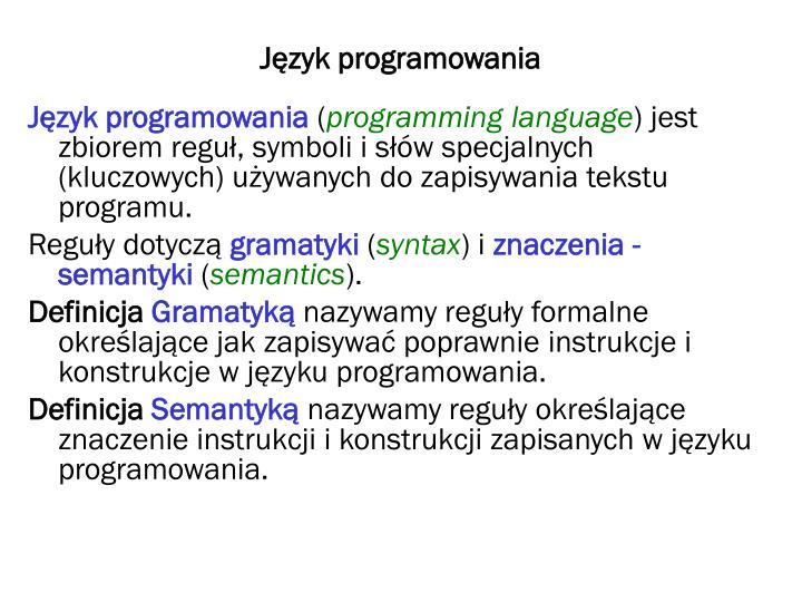 J zyk programowania