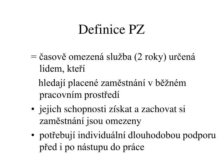 Definice PZ