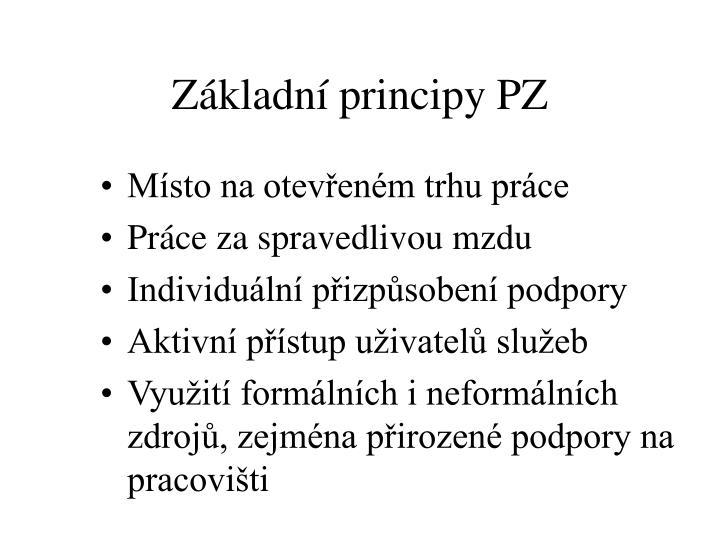 Základní principy PZ