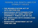 federal civil rights laws for disability issues