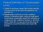 federal definition of substantially limits ada regs 1630 2 definitions