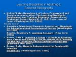 learning disabilities in adulthood selected bibliography2