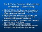 the 4 r s for persons with learning disabilities glenn young