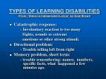 types of learning disabilities from steps to independent living by dale brown2