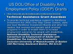 us dol office of disability and employment policy odep grants
