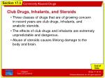 club drugs inhalants and steroids