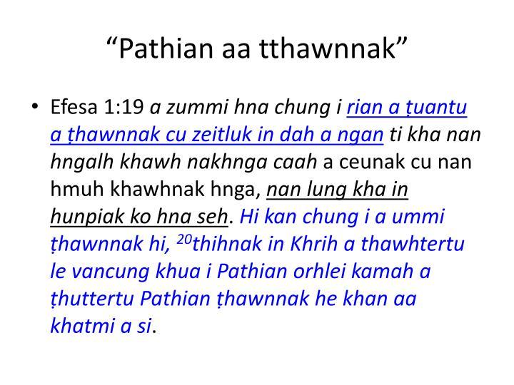 Pathian aa tthawnnak