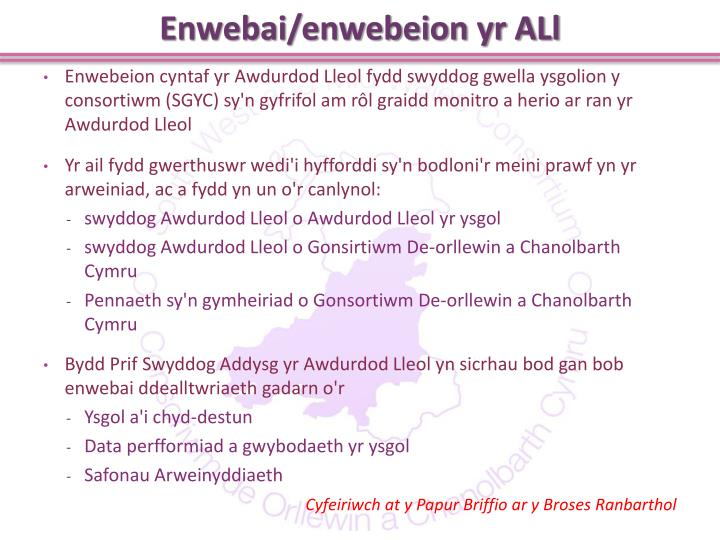Enwebai/enwebeion yr ALl