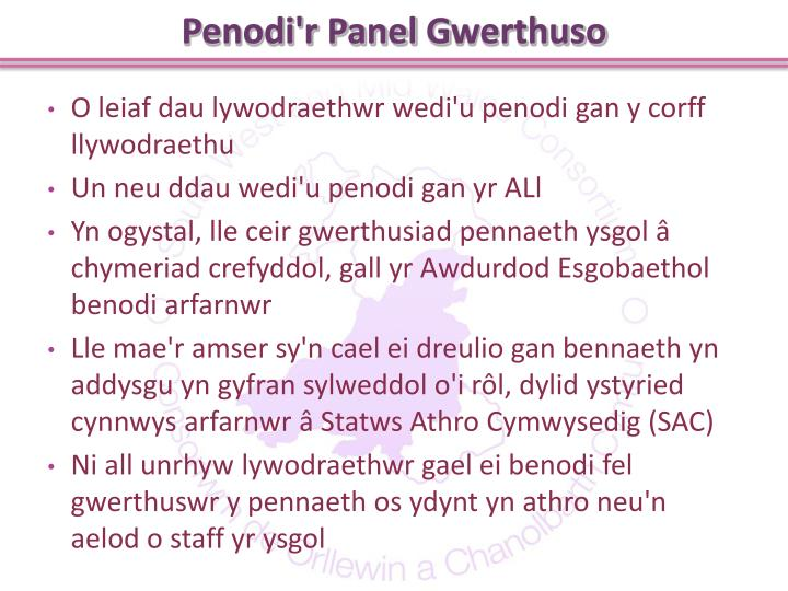 Penodi'r Panel