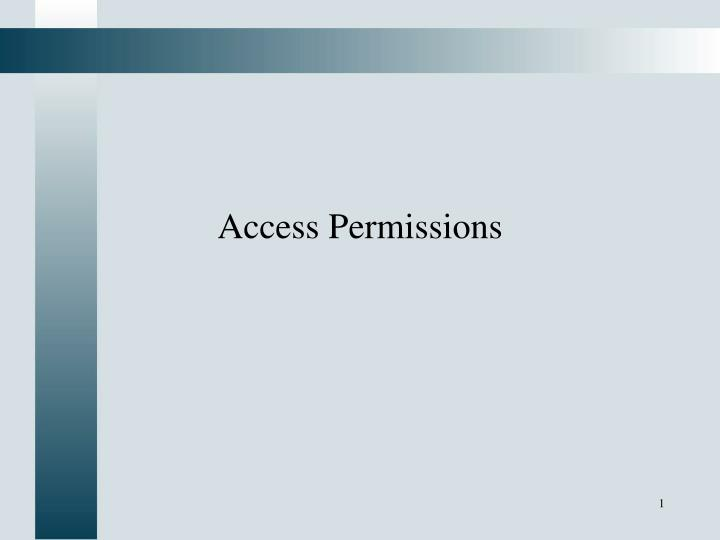 access permissions n.