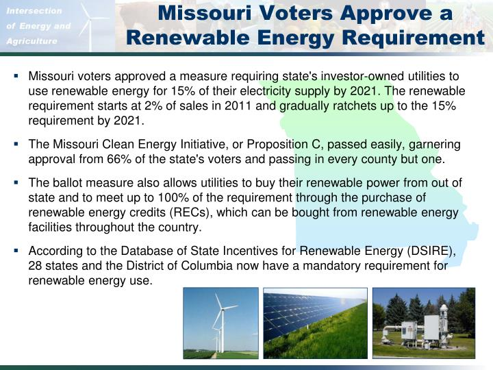 Missouri Voters Approve a Renewable Energy Requirement