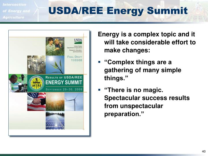 USDA/REE Energy Summit