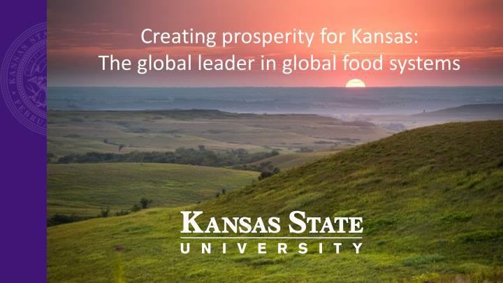 Creating prosperity for Kansas: