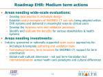 roadmap ehr medium term actions