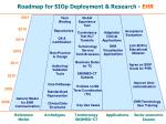 roadmap for siop deployment research ehr
