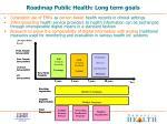 roadmap public health long term goals
