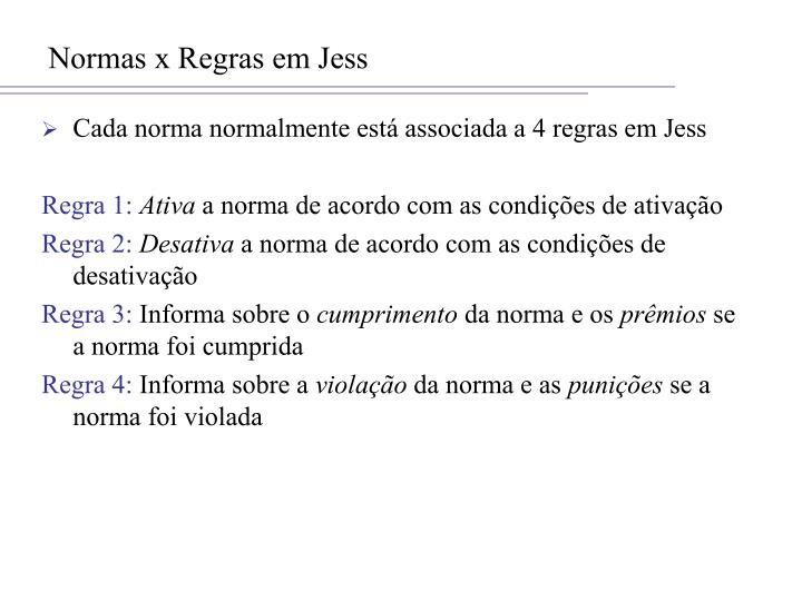 Normas x Regras em Jess