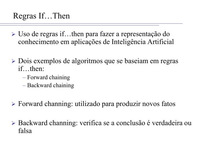 Regras If…Then