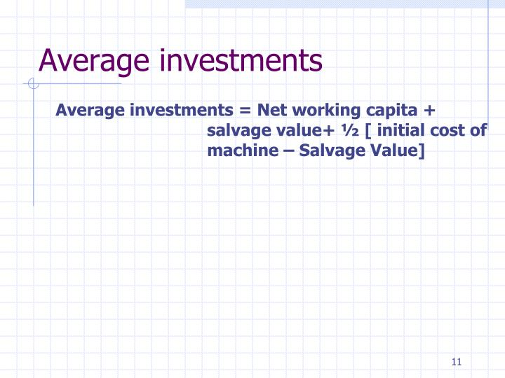 Average investments