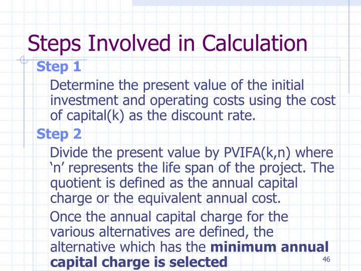 Steps Involved in Calculation