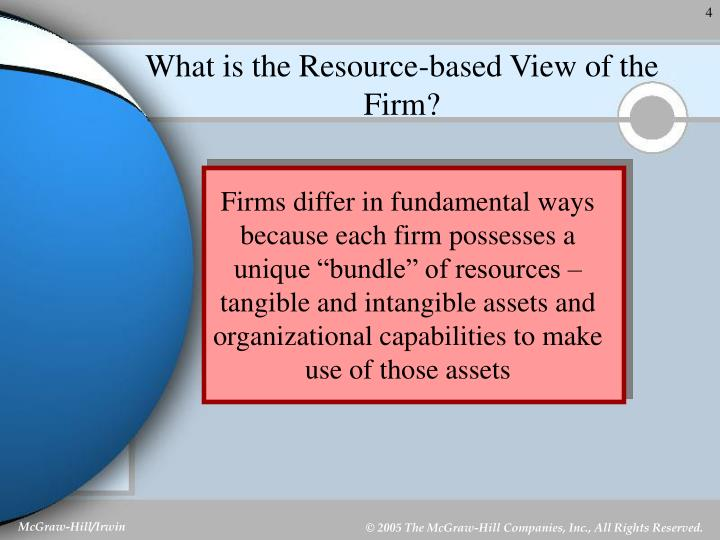 the resource based view of the firm rbv essay The resource-based view (rbv) emphasizes the internal capabilities of the organization in formulating a strategy to achieve sustainable competitive advantage in its.