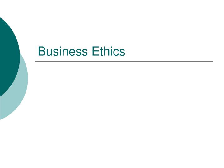 ethics n business