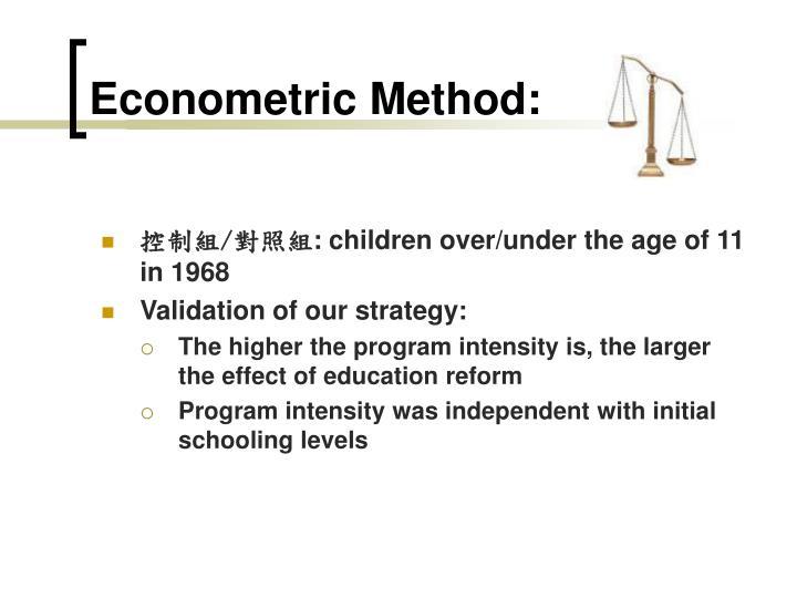 Econometric Method: