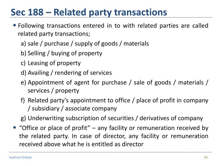 Sec 188 – Related party transactions