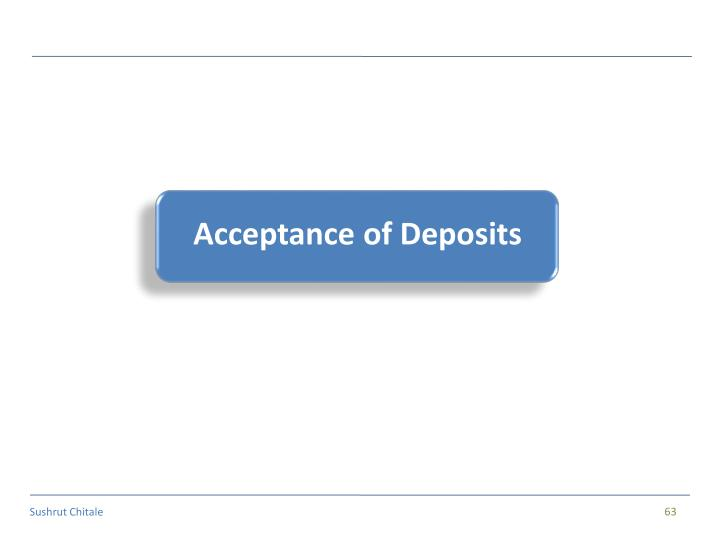 Acceptance of Deposits