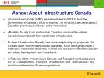annex about infrastructure canada