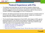 federal experience with p3s