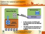 options for national participation scenarios2